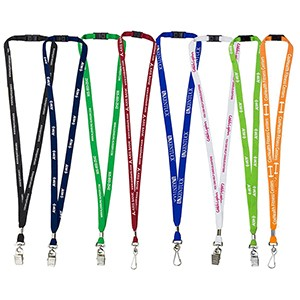 "3/8"" Silkscreen Lanyard w/Breakaway Safety Release"