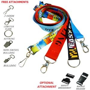 "3/4"" Dye-Sublimation Lanyard"